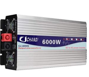 Convertisseur de tension 24V à 220V TUTOY 6000W Gris