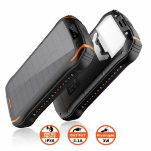 Elzle batterie solaire externe iPhone 26800mAh