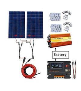 ECO-WORTHY Kit panneau solaire polycristallin 240w 220 v