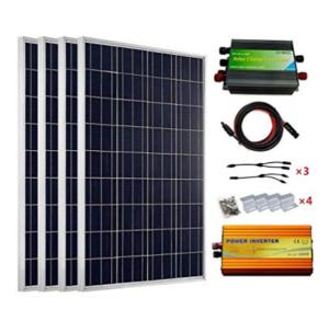 Ecoworthy kits 4 panneaux solaires 100 W 24 V