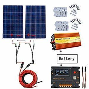1 panneau solaire polycristallin - Eco-Worthy 240W