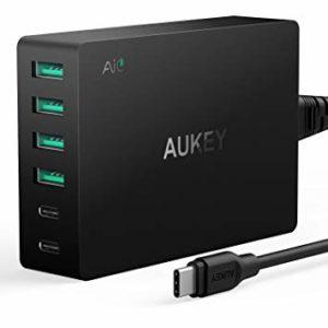 2 Chargeur de smartphone - Aukey chargeur secteur USB 60W