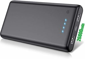 Batterie de secours - QTshine 26800 mAh